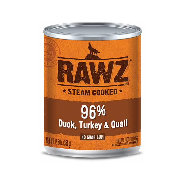 Canned 96% Duck Turkey & Quail, 12.5oz