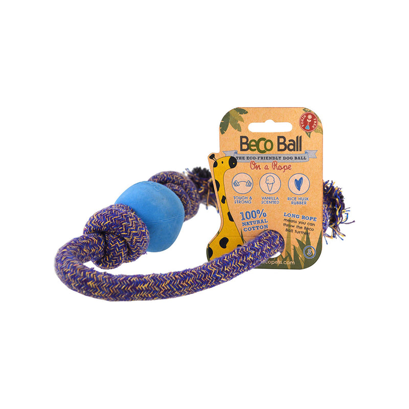 Beco Ball on a Rope Color : Blue Size : Small