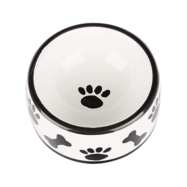 Black & White Collection Dog Bowl, Medium