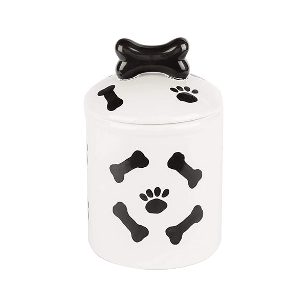 Black & White Collection Dog Treat Jar, Medium