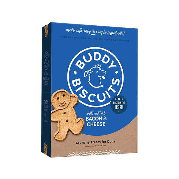 Buddy Biscuits - Bacon & Cheese, Large Bite, 16oz