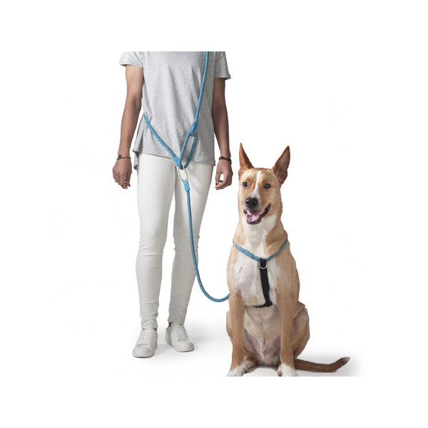 "CLIC Shoulder Leash Leisure Collection, Color Blue, Length 8'2""/5'7"" 13mm"