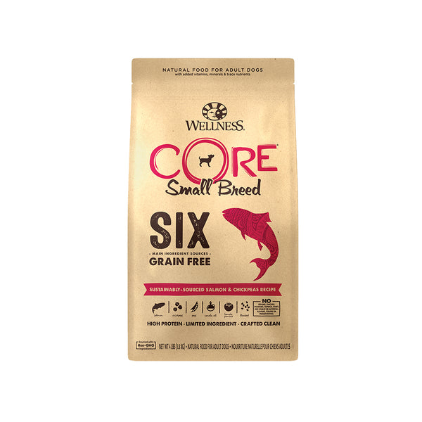 Core SIX Small Breed Sustainably-Sourced Salmon Dry Dog Food, 4lb
