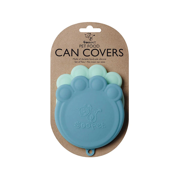 Ore Pet Can Cover S/2, Light Blue & Blue