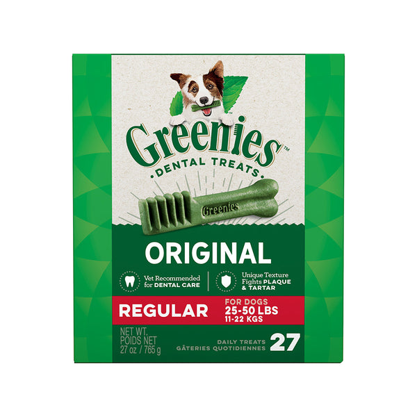 Original Dental Treats for Dogs, Regular, 27oz 27ct