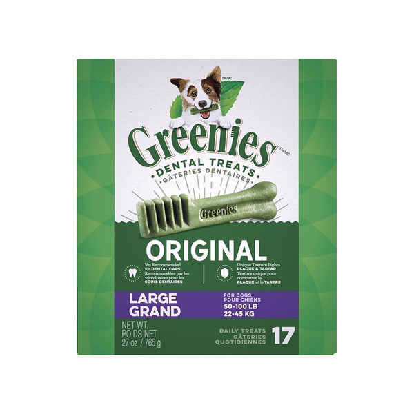 Original Dental Treats for Dogs, Large, 27oz 17ct