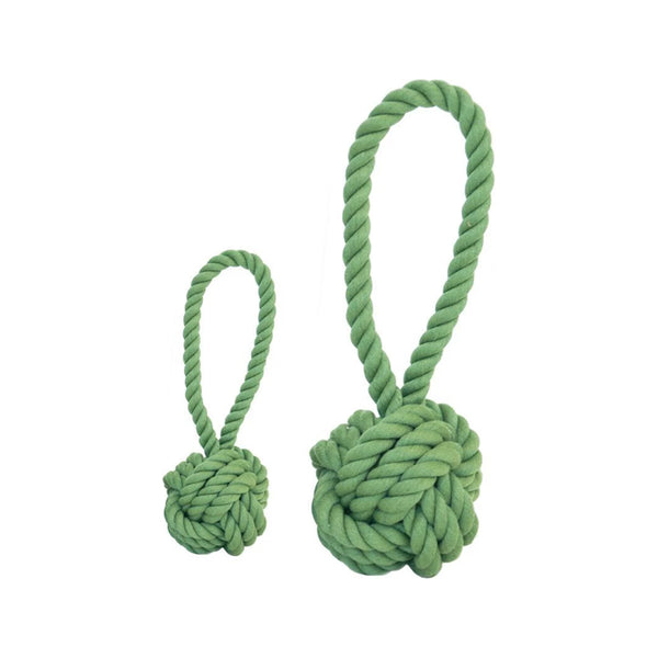 Cotton Rope Ball Toy, Color Green, Medium