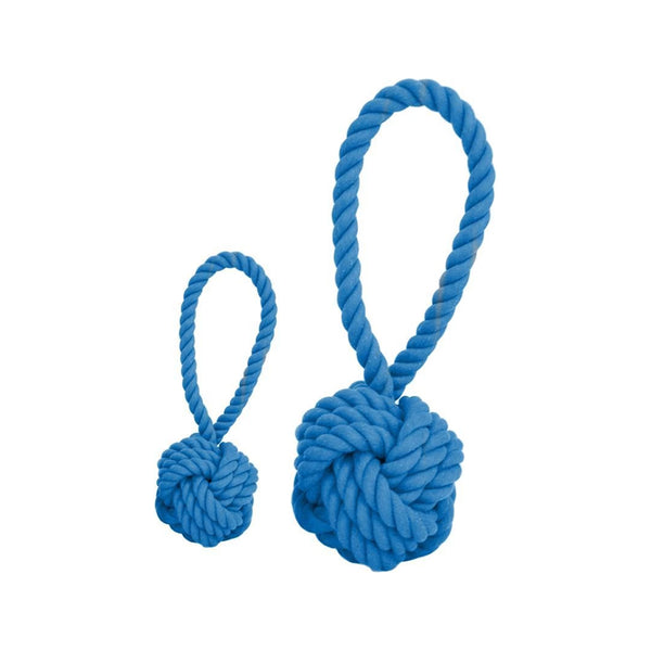 Cotton Rope Ball Toy, Color Blue, Medium