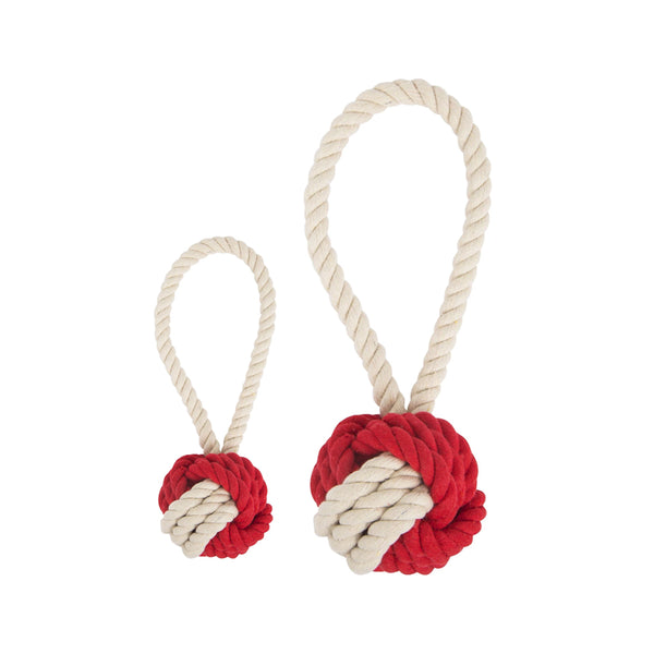 Cotton Rope Ball Toy, Color Multi-Red, Medium