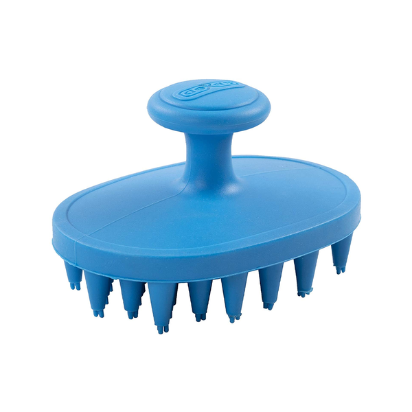 BrushBuster Silicone Dog Grooming Brush, Pro Blue