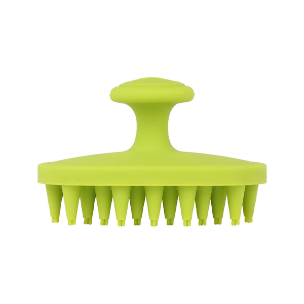 BrushBuster Silicone Dog Grooming Brush, Green