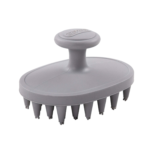 BrushBuster Silicone Dog Grooming Brush, Light Gray