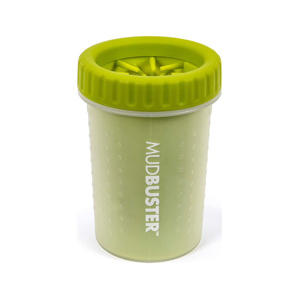 MudBuster Portable Dog Paw Cleaner Green, Medium