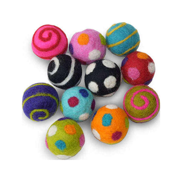 "Wool Ball Cat Toy, 1.5"", Assorted, 1pc"