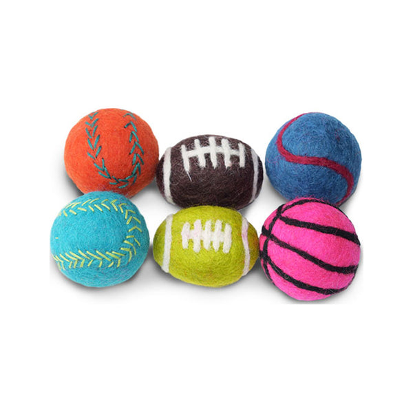 Wool Football Cat Toy, 2pcs