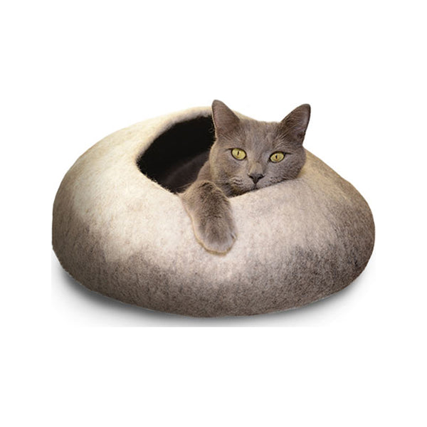 Natural Felted Cat Cave Ombre Color : Natural Size : 18""