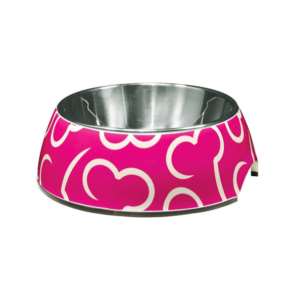 Dogit Pink Bone Design Dog Bowl, Small