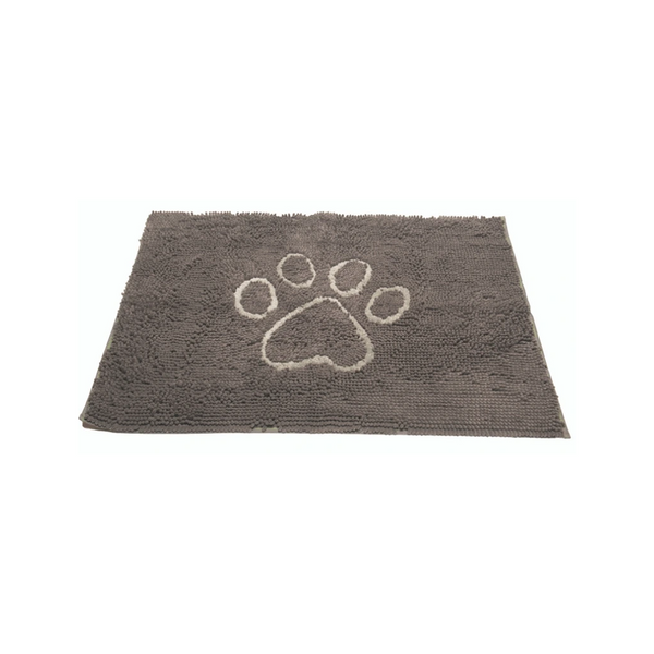 "Dirty Dog Doormat, Color Mist Grey, 31""X 20"""