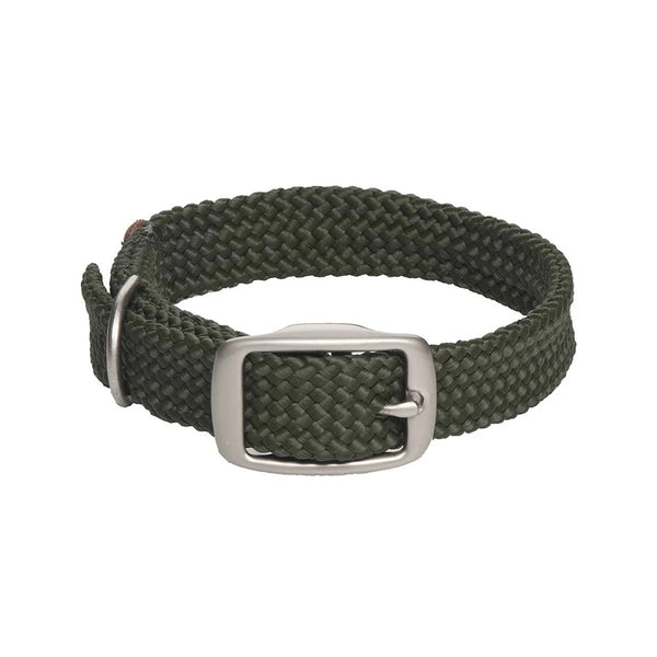 Double Braid Collar, Color Olive, 14""