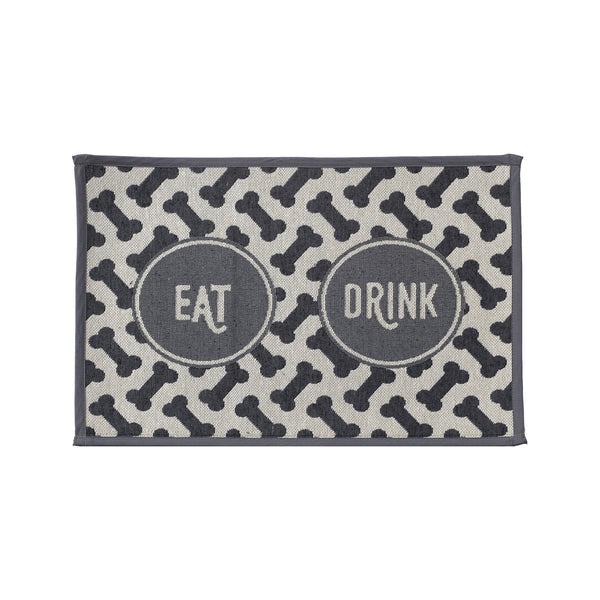 Eat Drink Tapestry Pet Placemat 19""