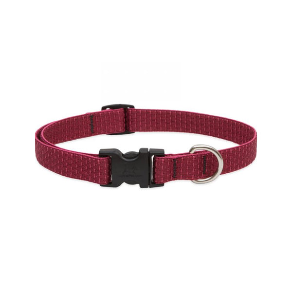 "Eco Dog Collar, Color: Berry, Width: 3/4"", Length: 9""-14"" (Adjustable)"