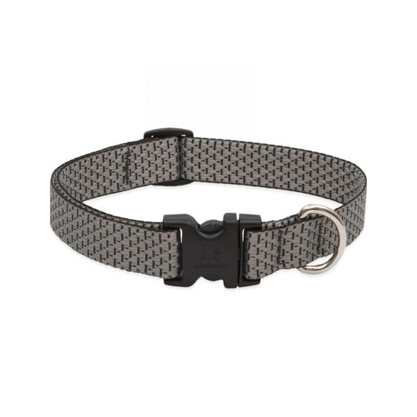 "Eco Dog Collar, Color: Granite, Width: 3/4"", Length: 9""-14"" (Adjustable)"