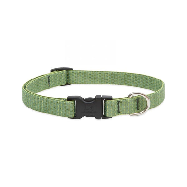 "Eco Dog Collar, Color: Moss, Width: 3/4"", Length: 9""-14"" (Adjustable)"