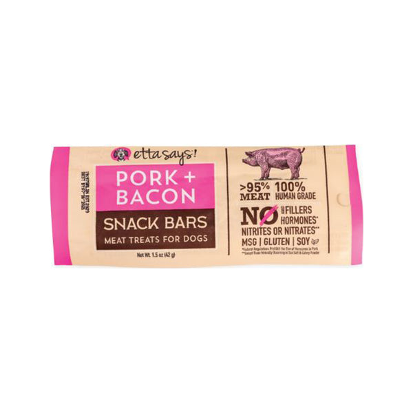 Snack Bars Pork & Bacon Meat Treats, 1.5oz