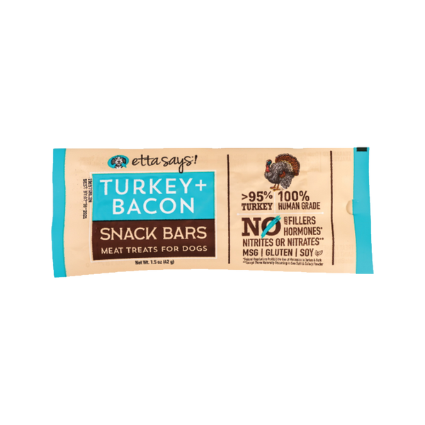 Snack Bars Turkey & Bacon Meat Treats, 1.5oz