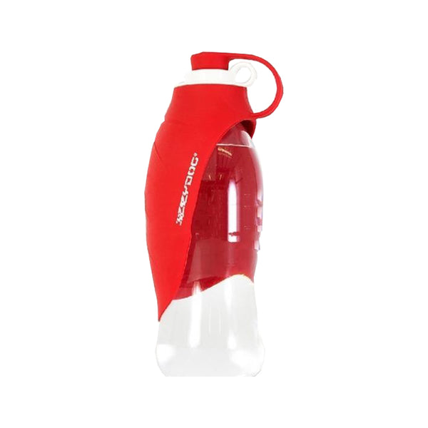 Portable Leaf Water Bottle, Color : Red, 600ml