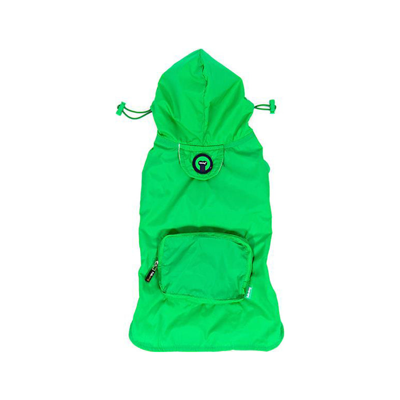 Packaway Green Raincoat, Large