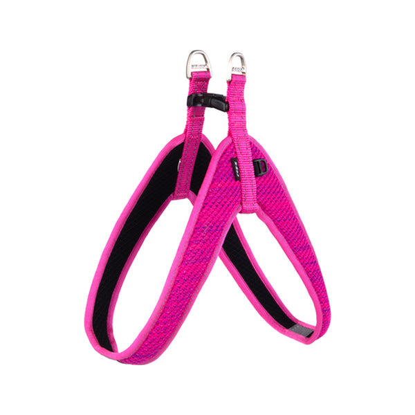 Fanbelt Fast Fit Harness, Pink, Large