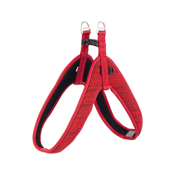 Fanbelt Fast Fit Harness, Red, Large