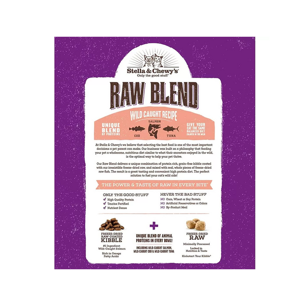Feline Raw Blend Kibble Wild Caught Recipe, 5lb