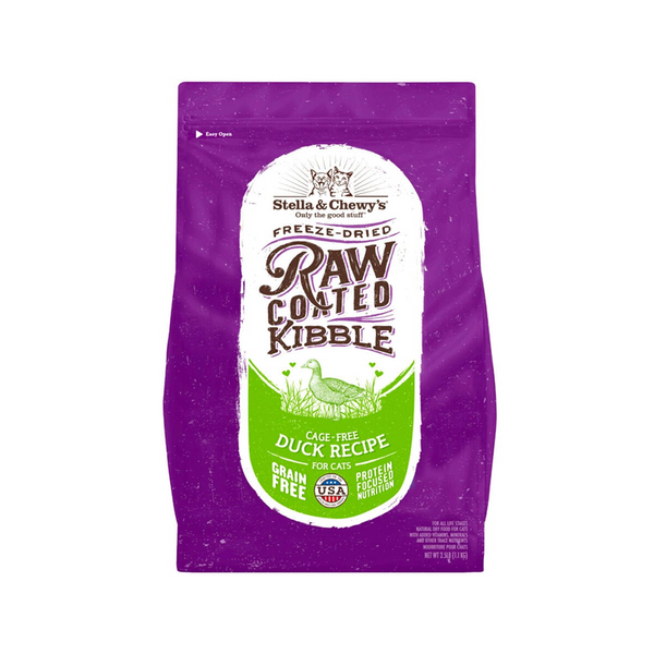 Feline Raw Coated Kibble Cage-Free Duck Recipe, 5lb