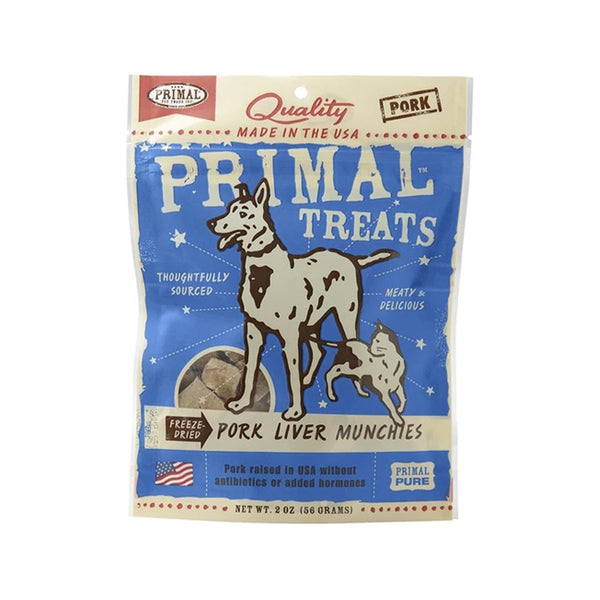Freeze Dried Pork Liver Munchies, 2oz