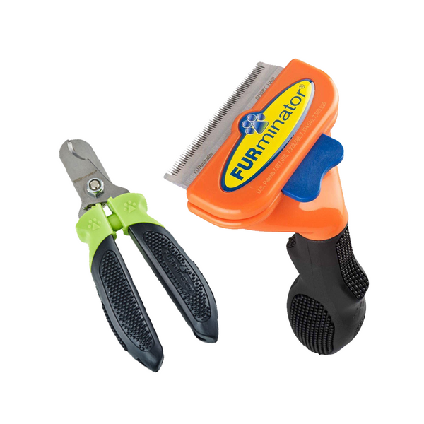 Furminator + Nail Clipper, Medium/Short Hair