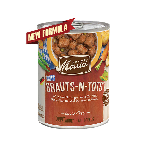 Grain Free Brauts-N-Tots Wet dog Food, 12.7oz