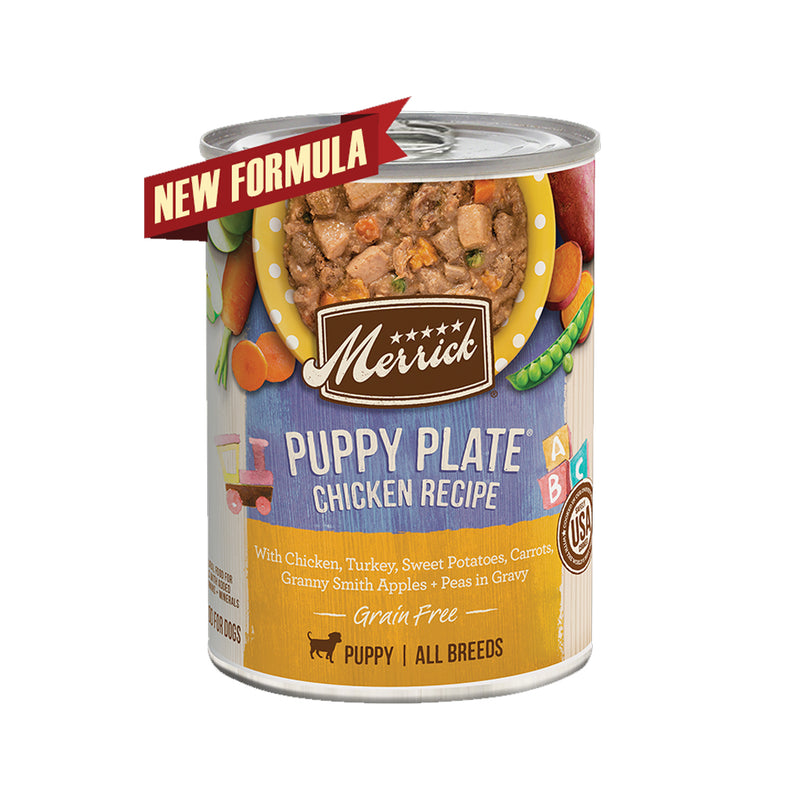Grain Free Puppy Plate Chicken Recipe Wet Dog Food, 13.2oz