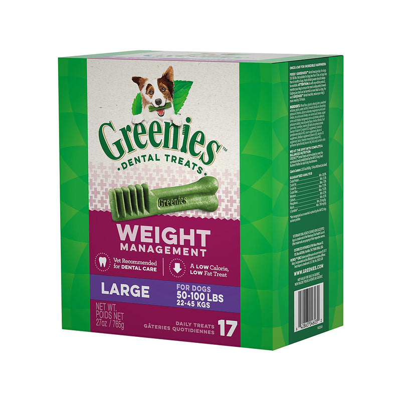 Weight Management Dental Chews, Large, Count:  17, 27oz
