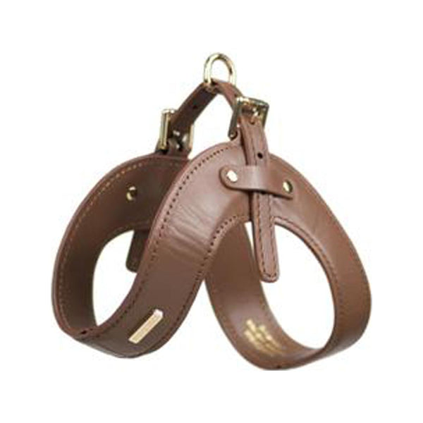 Leather Buckle Harness, Color Brown, XSmall