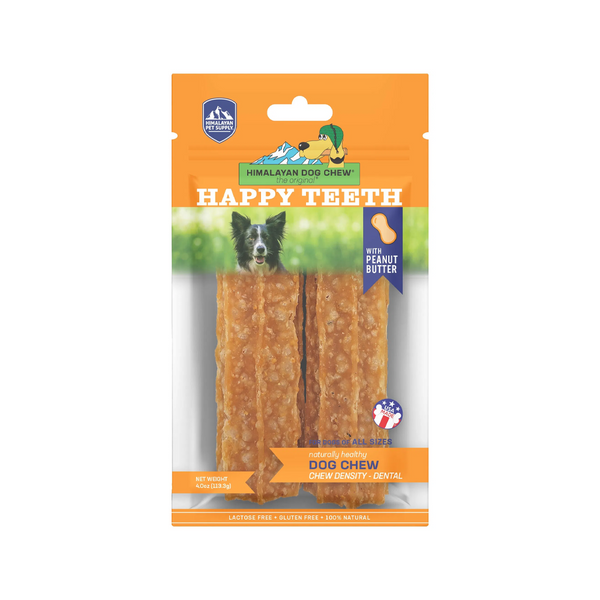 Happy Teeth Density Chew w/ Peanut Butter, 2pcs