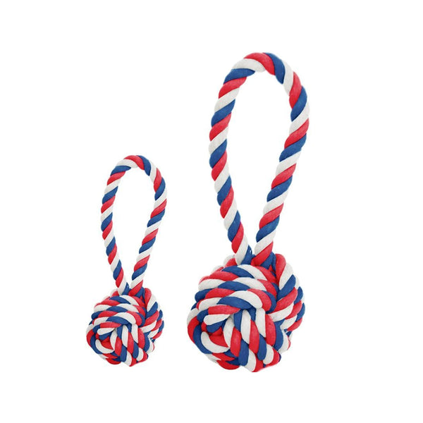 Cotton Rope Ball Toy, Color Veterans, Medium