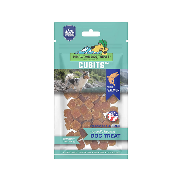 Cubits Naturally Healthy Dog Treat w/ Salmon 3.5oz