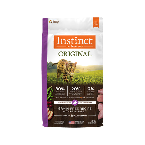 Original Grain Free Cat Kibble - Rabbit, 4.5lb