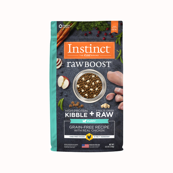 Raw Boost Grain Free Dog Kibble Puppy Recipe - Chicken, 4lb