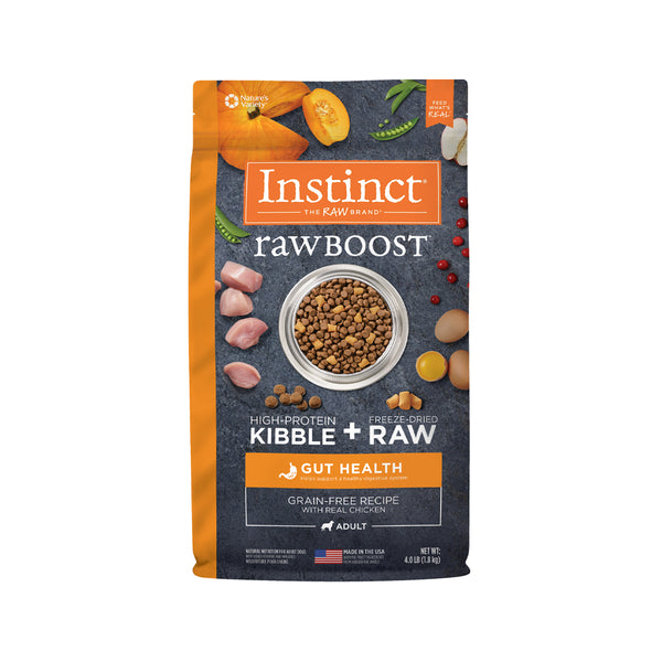 Raw Boost Dog Kibble Gut Health Recipe - Chicken, 4lb