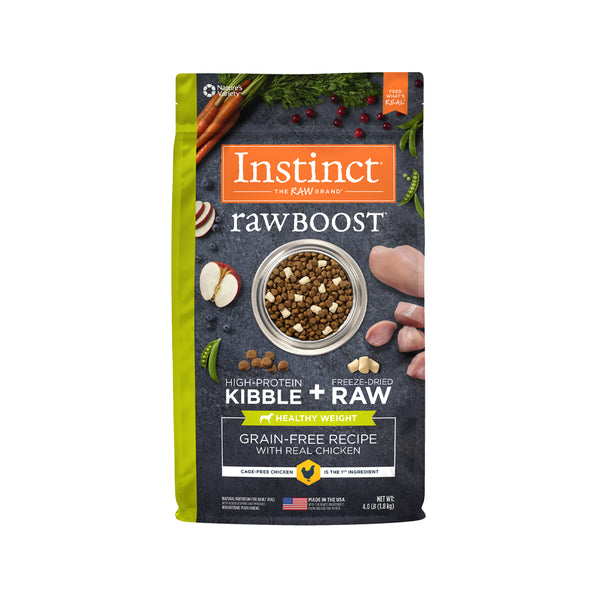 Raw Boost Dog Kibble Healthy Weight Recipe - Chicken, 4lb