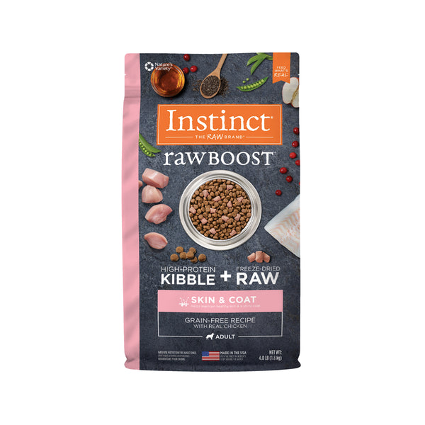 Raw Boost Dog Kibble Skin & Coat Recipe - Chicken, 4lb