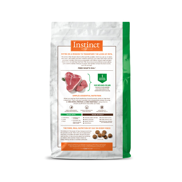 Limited Ingredients Diet Grain Free Dog Kibble - Lamb, 20lb